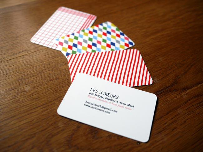 Jaime Bien Designer Des Cartes De Visite Cest Loccasion Pour Moi Retourner Au Graphisme Business Card Of Les 3 Soeurs The Sisters